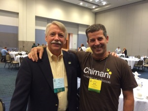 National Park Service Director Jon Jarvis with Chimani Editor Bob Curley