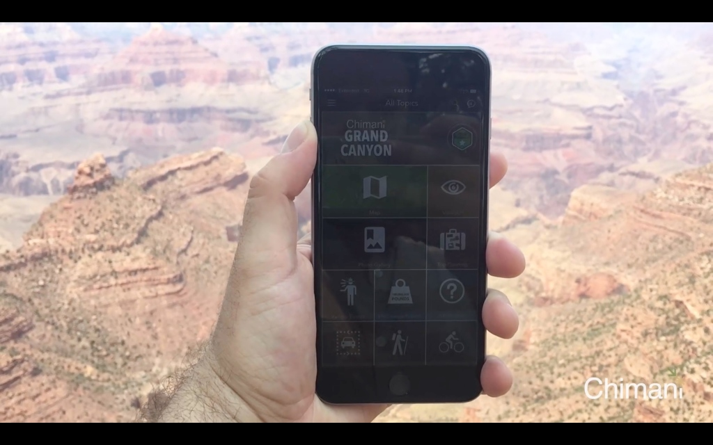 Grand Canyon National Park mobile app by Chimani