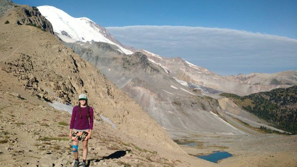 "Caroline ""Callie"" Meleedy at Panhandle Gap in Mount Rainier National Park"