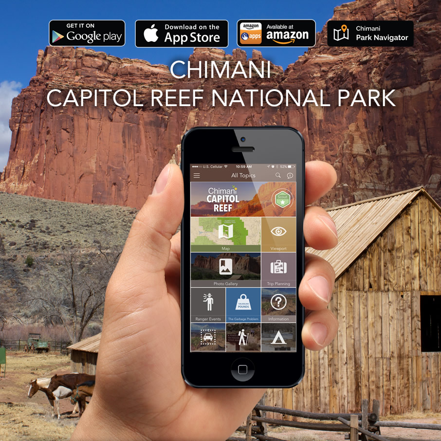 Capitol Reef National Park app by Chimani