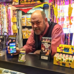 Longtime Chimani App User and Local Business Owner John Connor Distributing Download Cards From His Shop, Shows Off His Chimani App