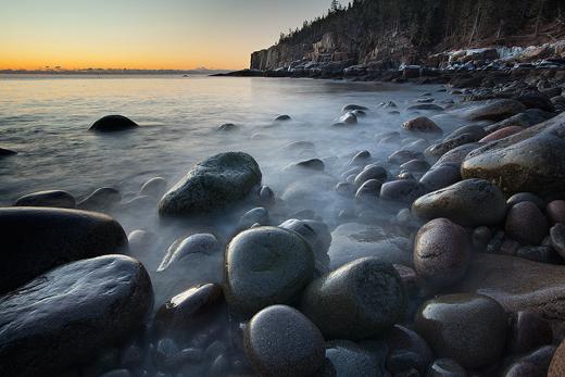 Acadia - Otter Cliffs in Winter