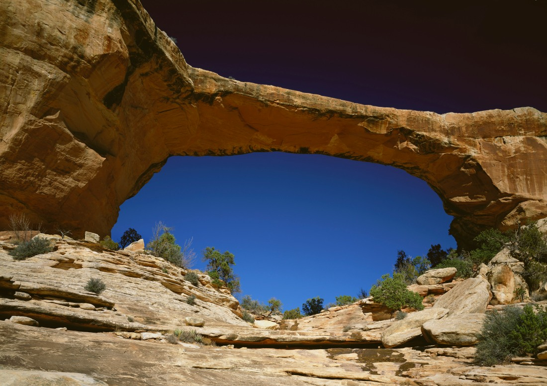 Owachomo Bridge, Natural Bridges National Monument. Utah, USA