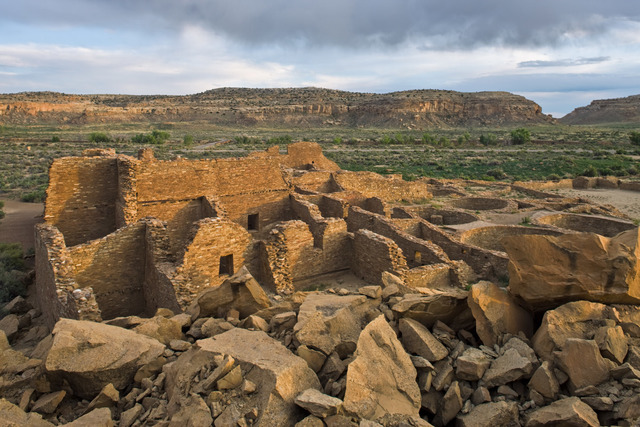 Great house, Pueblo Bonito. Chaco Culture National Historic Park, New Mexico