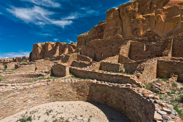 Ancient pueblo. Chaco Culture National Historic Park, New Mexico